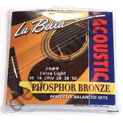 La Bella - Struny 7GPT 10-50 Acoustic Guitar