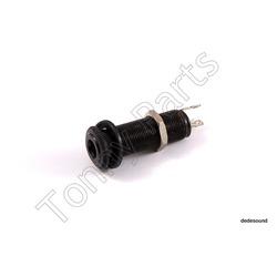 Tonny parts - Cylindryczne gniazdo gitarowe Black EJ-6